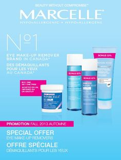 Special Offer - BOGO + Bonus Size Eye Make-Up Removers Your eyes deserve the best!  In stores now! #Fall2013