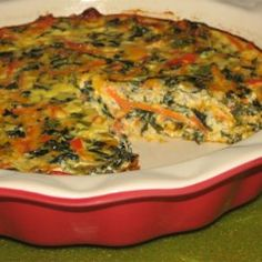 Summer Garden Crustless Quiche