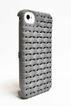 3D Printed Freshfiber Weave case available at cubify.com.