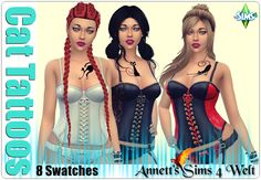 Annett's Sims 4 Welt: Cat Tattoos