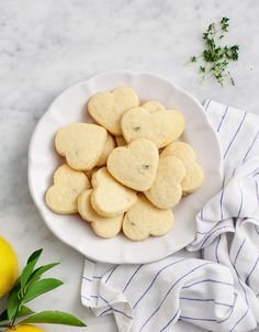 Lemon Thyme Shortbread Cookies - just use dairy-free butter to make them vegan!  (worth a try at least!)