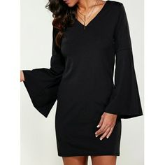 SHARE & Get it FREE | V-Neck Bell Sleeve Slimming DressFor Fashion Lovers only:80,000+ Items·FREE SHIPPING Join Dresslily: Get YOUR $50 NOW!