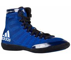 034295f55ac2 Adidas Adizero Varner Wrestling Shoes - Royal Black White Kobe Shoes