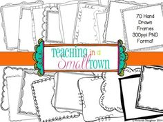 Square Doodle Frames [Set 2] 70 Frames for Commercial Use- On Sale Now!