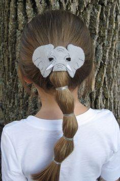 ELEPHANT Felt Hair Clip by liven on Etsy, $12.00