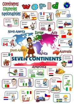 World continents countries nationalities