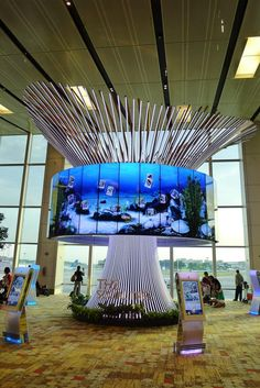 This beautifully designed, interactive Social Tree lets you share video and photo memories, which you can retrieve on your subsequent visits to the airport. So you can leave your future self a message, reminding your future self how wonderful your trip was!