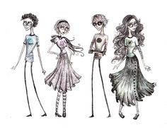 Tim Burton style kids>>this is Tim burton HOMESTUCK,FOOL.<==I think they meant beta kids, but shortened it. Tim Burton Drawings Style, Tim Burton Art Style, Tim Burton Stil, Tim Burton Kunst, Tim Burton Sketches, Tim Burton Artwork, Cthulhu, Tim Burton Zeichnungen, Face Anime