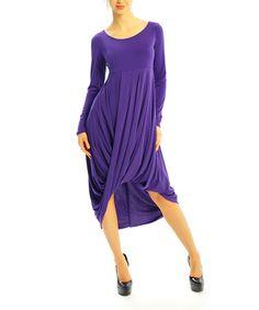 Loving this Purple Twist Hi-Low Dress on #zulily! #zulilyfinds