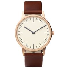 A+R simple brown watch