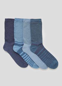 4 Pack Cotton Rich Socks