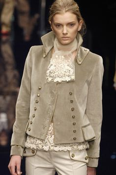 Double-breasted Velvet Jacket from Dolce & Gabbana's Fall 2006 collection (© 2006) Belle Epoque