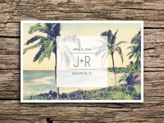 Weve paired a vintage image of a tropical coastline with modern typography to create a perfect save the date for your destination beach wedding. // PAPER AND PRINTING // Each card measures 4 by 6 inches, and is printed on both sides. We print on premium 14 pt white or natural (your pick!) smooth postcard stock. Please note that choosing natural card stock may result in slightly different coloring than appears above. No envelopes come with this purchase as these cards are meant to be mailed…