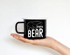 Papa Bär Emaille Becher Camping Becher Travel Mug von nokkvalley