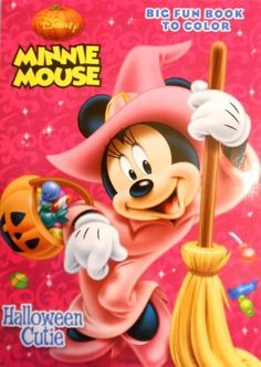 Disney Minnie Mouse Halloween Big Fun Book To Color Cutie 2012