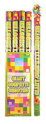 6 Jazzy Confetti Cannons - 80cm - Shooter Party Popper Wedding Safe Air