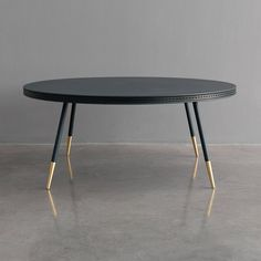 Brogue All Leather and Brass Coffee Table | From a unique collection of antique and modern coffee and cocktail tables at https://www.1stdibs.com/furniture/tables/coffee-tables-cocktail-tables/