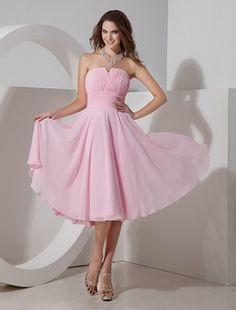 Robe demoiselle d'honneur rose plissée bustier