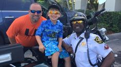 A Florida officer held back tears after a little boy offered to pay for his breakfast.