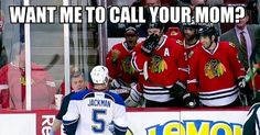 Ray Emery chirping at the joke that is Jackman. I <3 Emery for this!