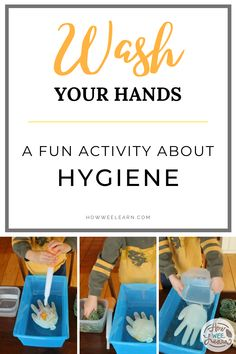 Kids and parenting - This fun little science activity is a great way to practice hygiene with your toddlers and preschoolers. Kids can learn where germs hide and how to get rid of them - while also benefiting from some great sensory play too. Educational Activities For Preschoolers, Feelings Activities, Health Activities, Preschool Science, Science Experiments Kids, Fun Activities For Kids, Toddler Preschool, Montessori Toddler, Health Resources