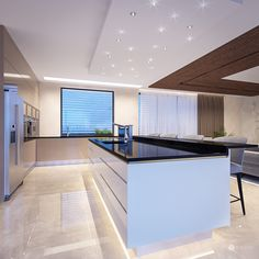 Interior design of this residence reflects the fusion of creamy tones and elements of glamour and exclusivity of the Arab world. Interiores Design, Designer, Glamour, Table, House, Design Kitchen, Furniture, Kitchen Island, Home Decor