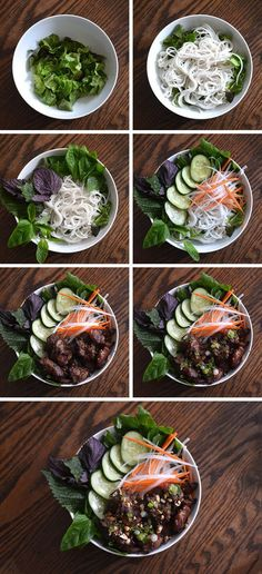 [Bún Thịt Nướng - Grilled Pork & Rice Noodles] + Click For Recipe! #easy #recipes #asian #vietnamese