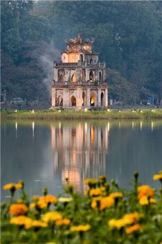 Temple of the Turtle, Hoan Kiem Lake, Hanoi, Vietnam.