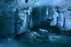 "The Ordinskaya Cave (or ""Orda Cave""), which lies beneath Russia's Ural Mountains, is the world's largest gypsum crystal cave and one of the world's longest underwater caverns, with many areas still unexplored."