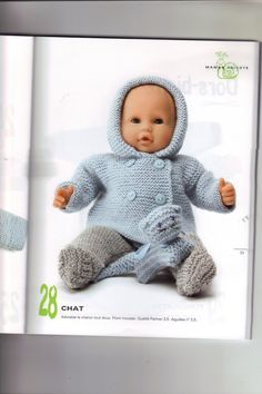 New Knitting Hat For Girls Doll Clothes Ideas Knitted Doll Patterns, Loom Knitting Patterns, Knitted Dolls, Knitted Hats, Crochet Baby Blanket Borders, Crochet Stitches Free, Girl Doll Clothes, Girl Dolls, Baby Dolls