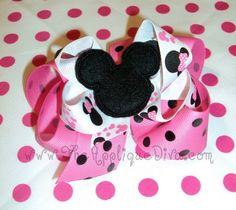 Mouse Hair Bow Center-Mickey Mouse, Mouse, Bow Center, Felt,feltie