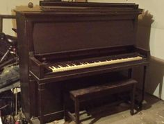 Very old upright piano. We dated it back to the 1920's. Needs a good cleaning and a couple keys do not work. VERY heavy and will need a truck or trailer to haul. Knabe Model serial # 107058