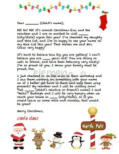 Personalized Letter from Santa! 3 different letters options to choose from | by eLeMeNO-P Kids