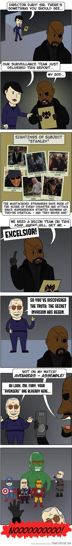 Horrible secret behind every Stan Lee cameo… hahaha this is great!