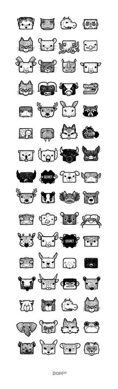 Dilivium Game Character Design by user interface gui ui Game Character Design, Game Design, Icon Design, Web Design, Logo Design, Square Character, Pixel Art, Character Illustration, Illustration Art