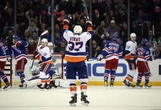 Brian Strait scored his first goal of the season and his first NHL goal during the regular season against the New York Rangers 12.20.13 (his first NHL goal was during the 2013 playoffs)