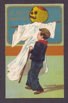 #joyous #ghost #Free #halloween #postcard #vintage #graphics