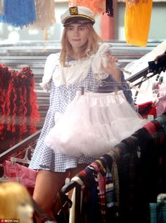 Suki Waterhouse tries on sexy sailor and Wizard Of Oz costumes The Wizard Of Oz Costumes, Sailor Cap, Celebrity Halloween Costumes, Suki Waterhouse, Old Models, Trick Or Treat, West Coast, Ski, Captain Hat