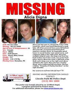 Missing Woman: Alicia Digna--MI--8/27/2008