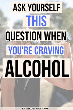 Often times when we crave alcohol, were actually craving something else in our life. Ive found its hugely important to dig deep and see what is behind your craving for alcohol. Asking yourself this simple question is a great place to start. Quit Drinking Alcohol, Quitting Alcohol, Alcohol Detox, How To Quit Alcohol, Alcohol Is A Drug, Alcohol Free, Sobriety Quotes, Quotes Quotes, Sober Quotes