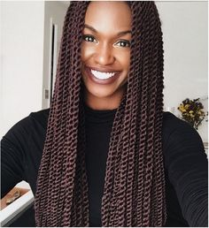 Twists are a top favorite this season! Versatile Senegalese twist styles allow you to craft innovative hairdos. Check out these fabulous Senegalese twist styles Box Braids Hairstyles, Crochet Twist Hairstyles, Crochet Hair Styles, Black Hairstyles, Wedding Hairstyles, Popular Hairstyles, Drawing Hairstyles, Kid Hairstyles, Dreadlock Hairstyles