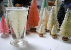 How to Bleach and Dye Bottle Brush Christmas Trees