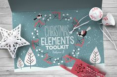 Christmas Elements Toolkit Vol.2 by Zeppelin Graphics on Creative Market