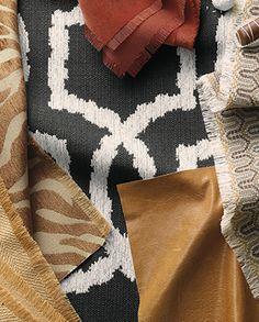 Gold and Charcoal #EthanAllen #EthanAllenBellevue #Fabrics