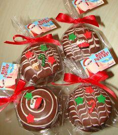 Pão de Mel c/ confeitos de açúcar tema Natal = R$ 4,00 (tamanho tradicional)