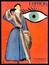René Gruau 1947 Christian Dior, L'Officiel Magazine Cover