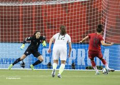 Hope Solo on the PK by Germany -- which Sacik pulled to her left! (hopesolo. com)