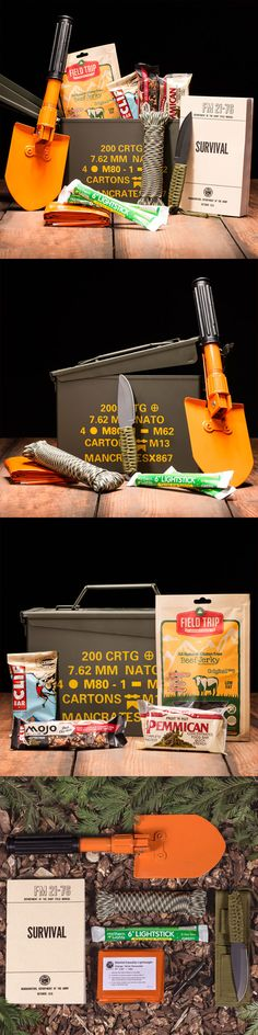 Is your Dad an intrepid outdoorsman? The Outdoor Survival Can won't just thrill him, it may save his life someday. If the Donner Party had been outfitted with the Outdoor Survival Ammo Can, today they'd be famous for their poetic descriptions of the Sierra Nevadas instead of their darker nutritional decisions. This Father's Day, give your dad the greatest gift of all...survival!