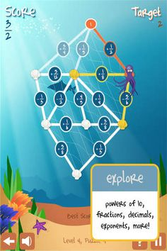 Pick-a-Path - a fun mobile app that focuses on different aspects of Math such as: fractions, decimals, and more...
