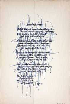 asemic text, asemic writing, asemic poem, palimpsest - Cecil Touchon